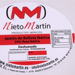 Jamón Bellota Ibérico deshuesado 50%