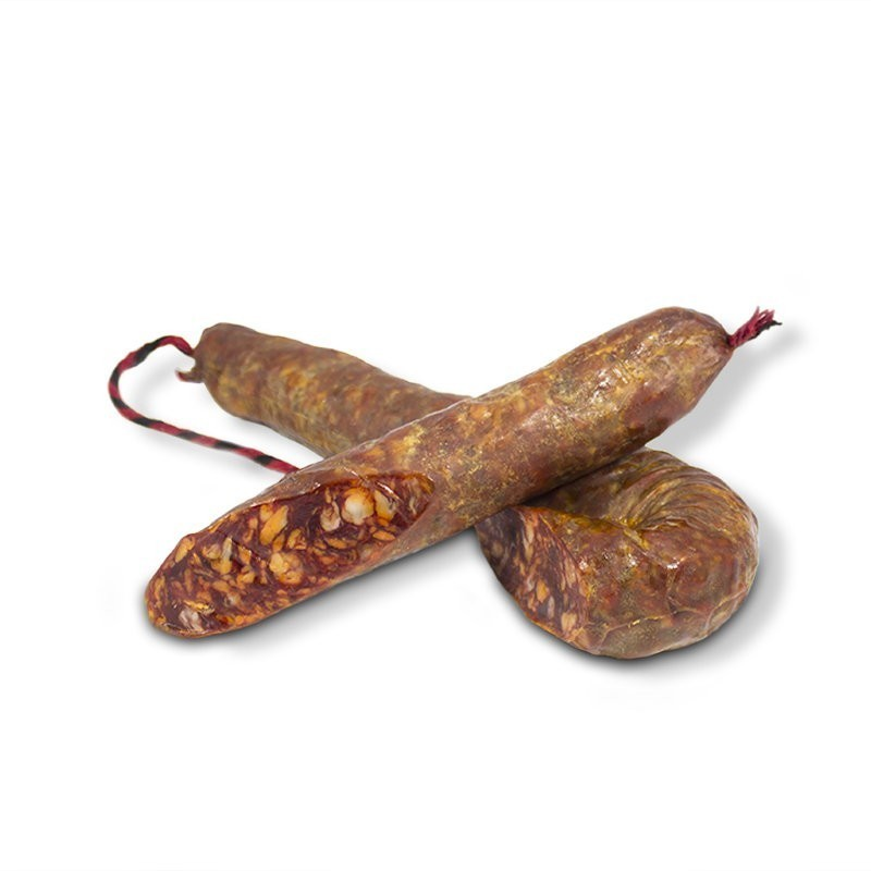 Longaniza de Bellota Ibérica Natural media cortada